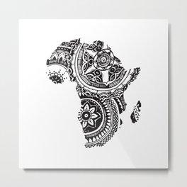 African Tribal Pattern No. 63 Metal Print