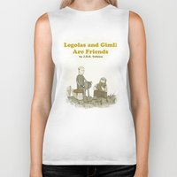 legolas Biker Tanks featuring Legolas and Gimli Are Friends by James E. Hopkins