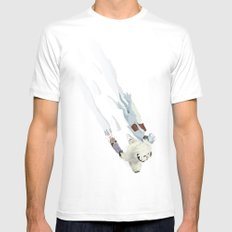 The Missing Wampa Scene MEDIUM White Mens Fitted Tee