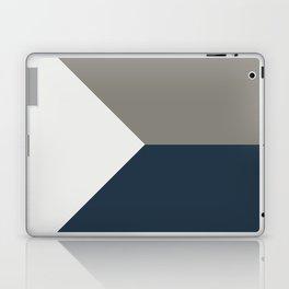Blue Grey White Abstract Geometric Art Laptop & iPad Skin
