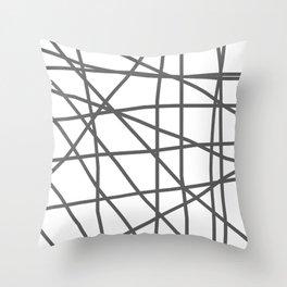 Doodle (Grey & White) Throw Pillow