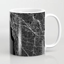Melbourne Black Map Coffee Mug