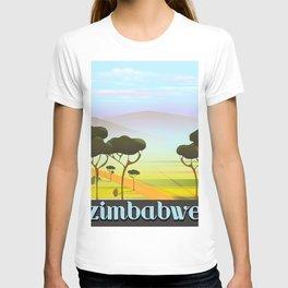 Zimbabwe landscape travel poster T-shirt