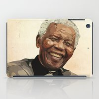 mandela iPad Cases featuring ICON: Mandela by Diavu'