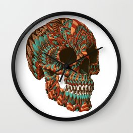Ornate Skull (Color Version) Wall Clock