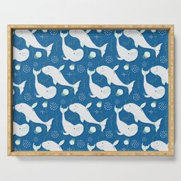 Beluga Whale Blue #homedecor Serving Tray