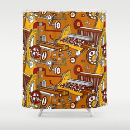 Looming Large Shower Curtain
