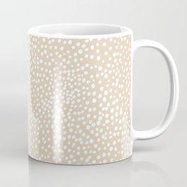 Little wild cheetah spots animal print neutral home trend warm honey yellow beige Coffee Mug
