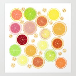 Citrus Summer Art Print