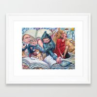 bookworm Framed Art Prints featuring Bookworm by Alex Lavrov