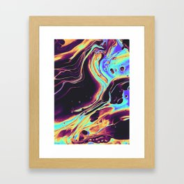 SIDEWALKING IN THE ALLEY Framed Art Print