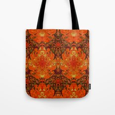 The circle of birds ... Orange 2 - flip repeat Tote Bag