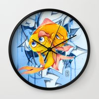 bucky Wall Clocks featuring Bucky & Ace by Paz Art
