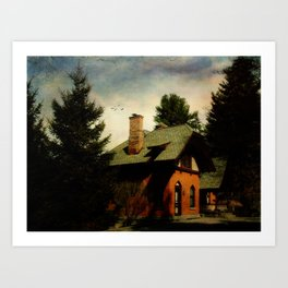 Cemetery Cottage Art Print