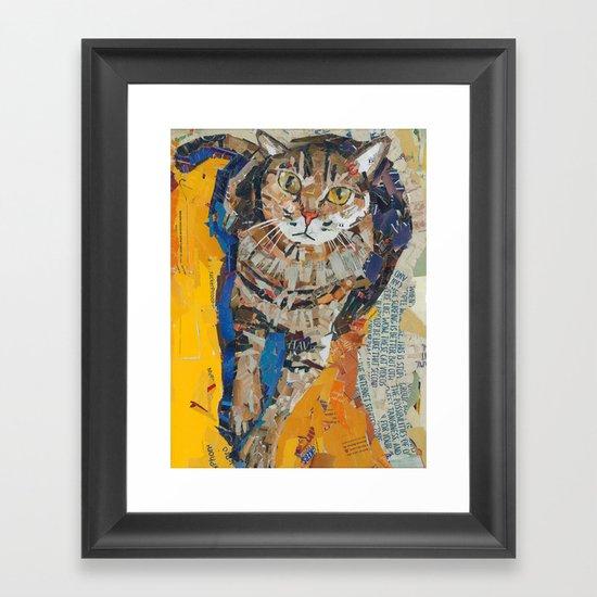 Tobin the kitty Framed Art Print