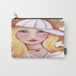 Whimsical Baseball Girl Carry-All Pouch