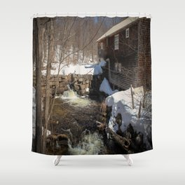 Grist Mill, Maine Shower Curtain