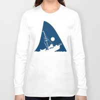 jaws Long Sleeve T-shirts featuring Jaws by albertocubatas