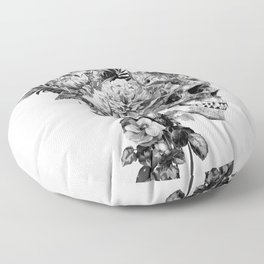 Skull VI BW Floor Pillow