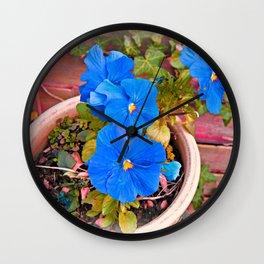 Little Blue Eyes. Wall Clock