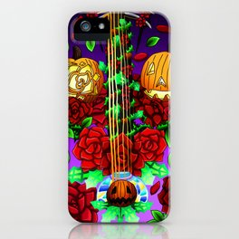 Fusion Keyblade Guitar #145 - Pumpkinhead & Divine Rose iPhone Case