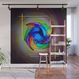 Abstract in perfection - Cube 5 Wall Mural