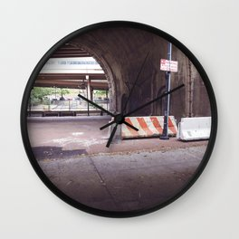 Under the Brooklyn Bridge, a Shutdown Skatepark Wall Clock