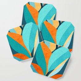 Abstract Tropical Foliage Coaster