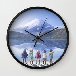 Laid-Back Camp Wall Clock
