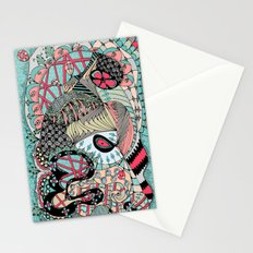 The eye looking flower Stationery Cards