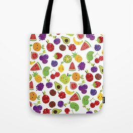 Funny colorful happy cute summer fruit pattern Tote Bag