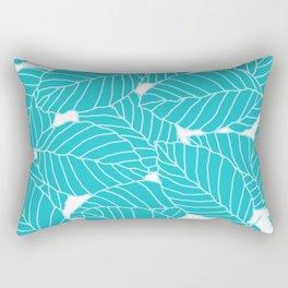 Sweet Leafs: Bermuda Blue Rectangular Pillow