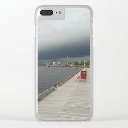 Rain Coming Clear iPhone Case