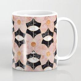 Rose Gold Art Deco Flower Pattern Coffee Mug