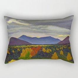 Sun through Clouds on Autumn Foliage by Rockwell Kent Rectangular Pillow