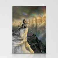 northern lights Stationery Cards featuring Northern Lights by Lyndsey Green Illustration