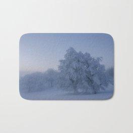 Black Forest Snowy Trees - Landscape Photography Bath Mat