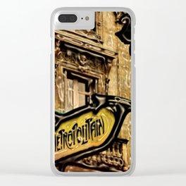 Paris Metropolitan Subway Station by Jeanpaul Ferro Clear iPhone Case
