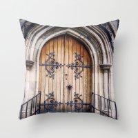 doors Throw Pillows featuring Doors by JMcCool