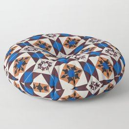 Portuguese tile pattern Floor Pillow