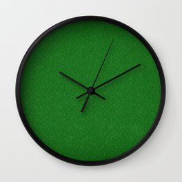 Football, Soccer field stadium, Green grass stripes background  Wall Clock