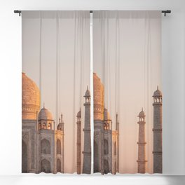 Taj Mahal At Sunset Blackout Curtain