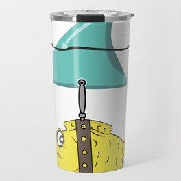 fish disguise shark fin shark joke gift Travel Mug