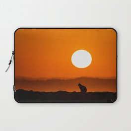 Early Morning Cat Laptop Sleeve