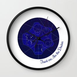 Trust Me, I'm The Doctor (Text) - Doctor Who Wall Clock
