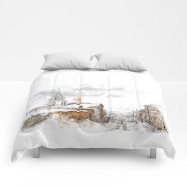 Russian landscape Comforters