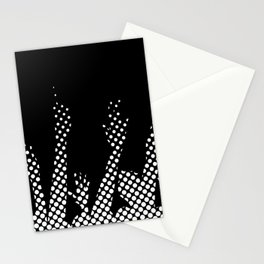 Halftone Raised Hands Stationery Cards