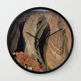 The Goosnecks - A Meander Of The San Juan River Wall Clock