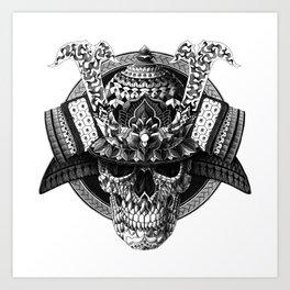 Samurai Skull Art Print