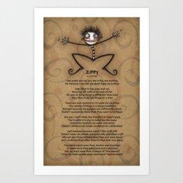 Zippy Art Print